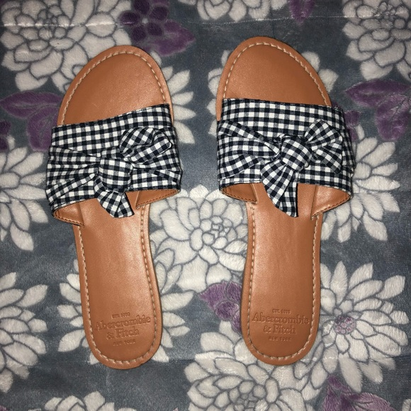 Checkered Slide Bow Bow Checkered Slide Sandals Sandals Checkered my7vbf6IYg